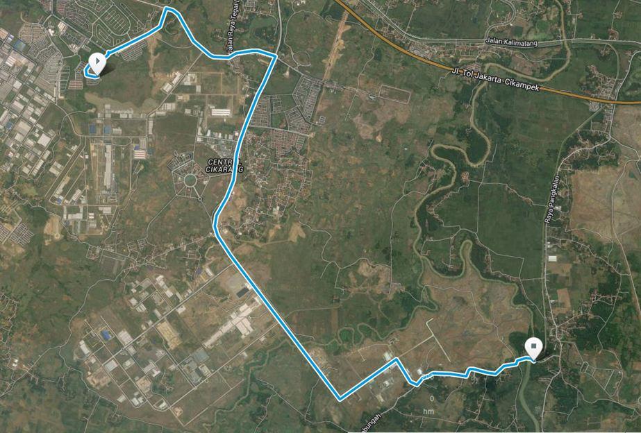 Rute gowes Taman Cibodas - Bendungan Cibeet